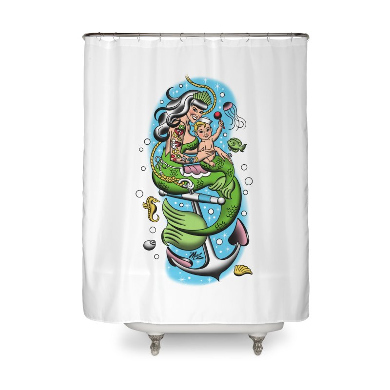 Sailor Jerry Home Shower Curtain by Mitch O'Connell