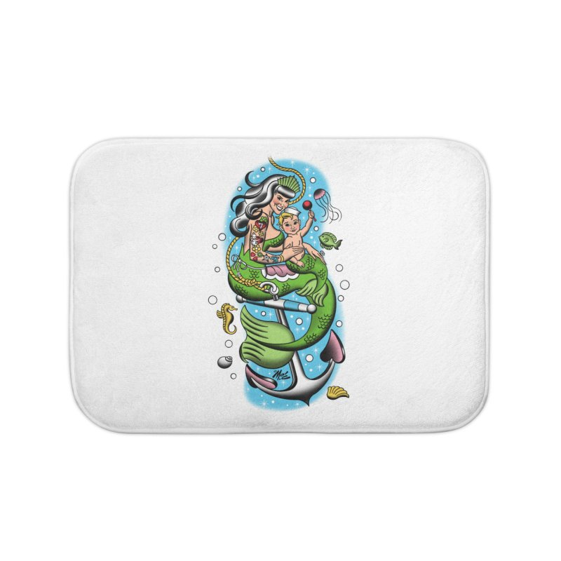 Sailor Jerry Home Bath Mat by Mitch O'Connell