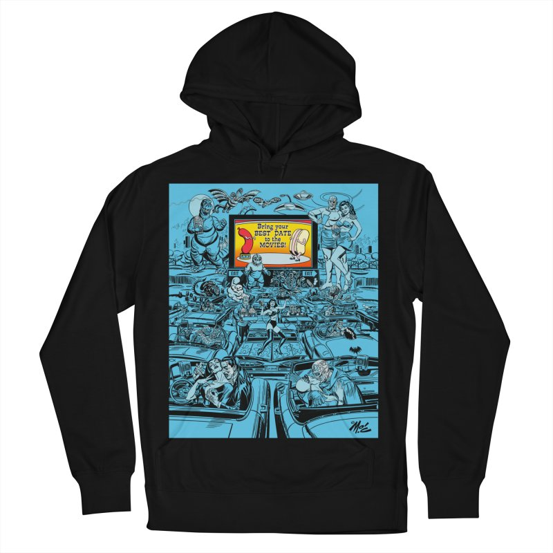 Take Your Best Date to the Movies! Women's Pullover Hoody by Mitch O'Connell