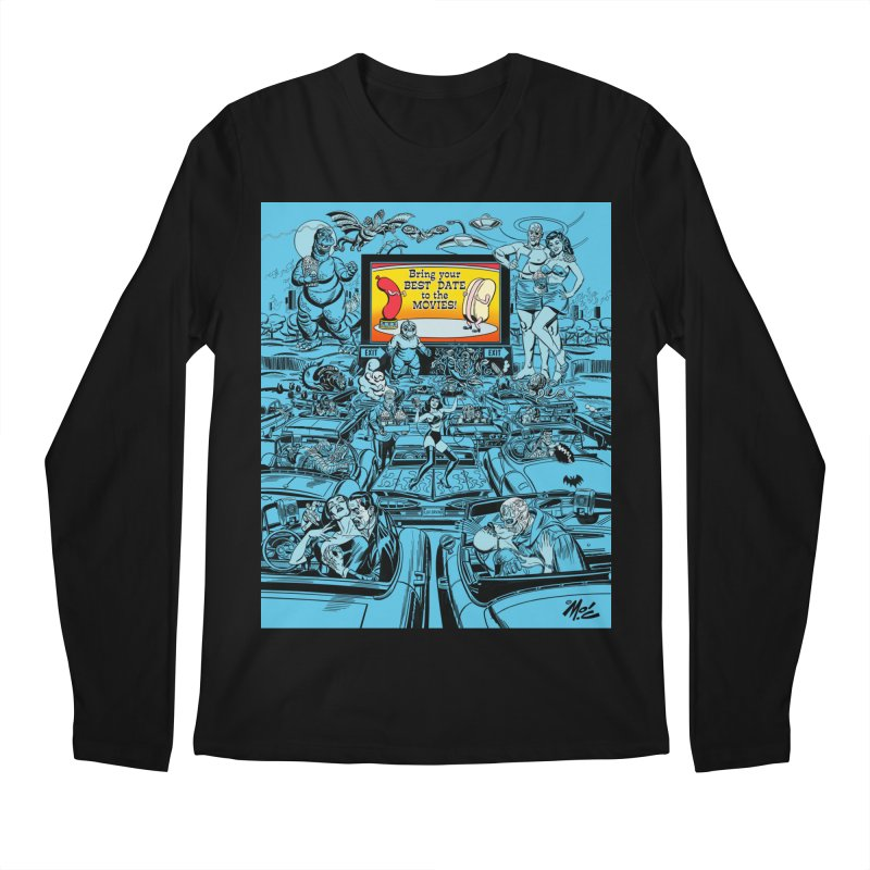 Take Your Best Date to the Movies! Men's Longsleeve T-Shirt by Mitch O'Connell