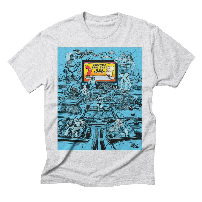 Take Your Best Date to the Movies! Men's Triblend T-Shirt by Mitch O'Connell