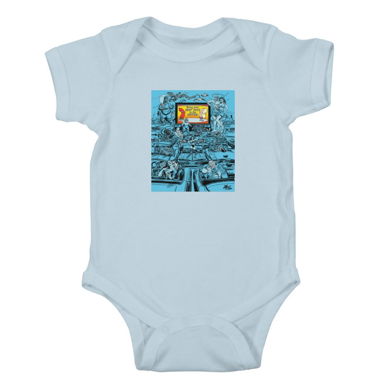 Take Your Best Date to the Movies! Kids Baby Bodysuit by Mitch O'Connell