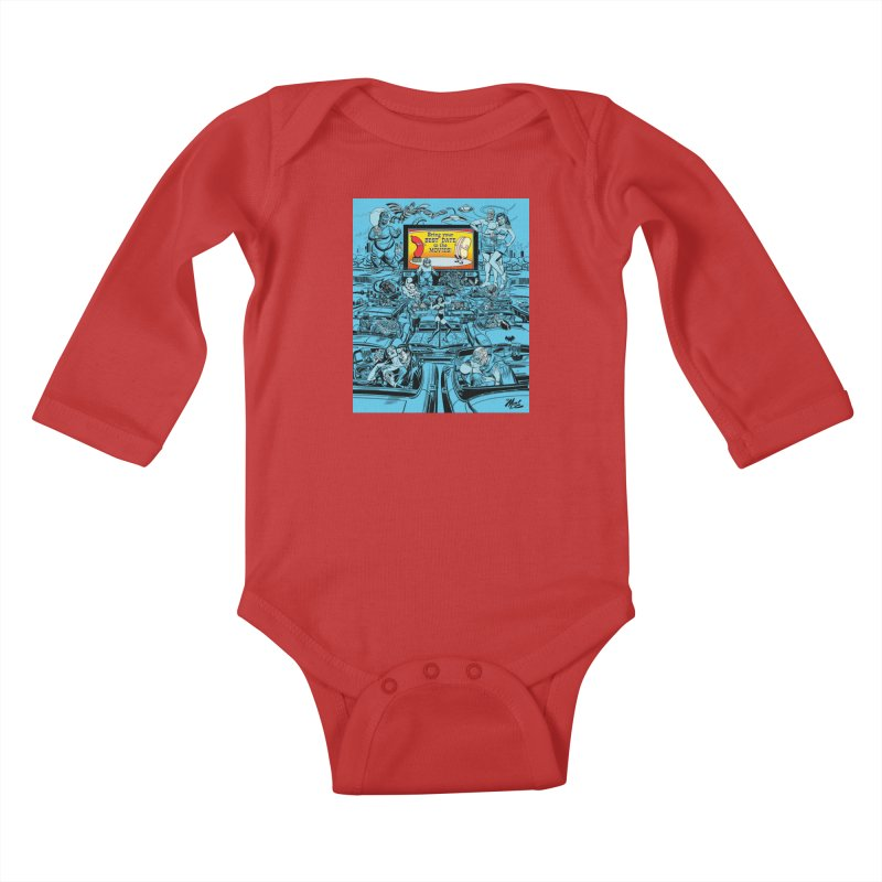 Take Your Best Date to the Movies! Kids Baby Longsleeve Bodysuit by Mitch O'Connell