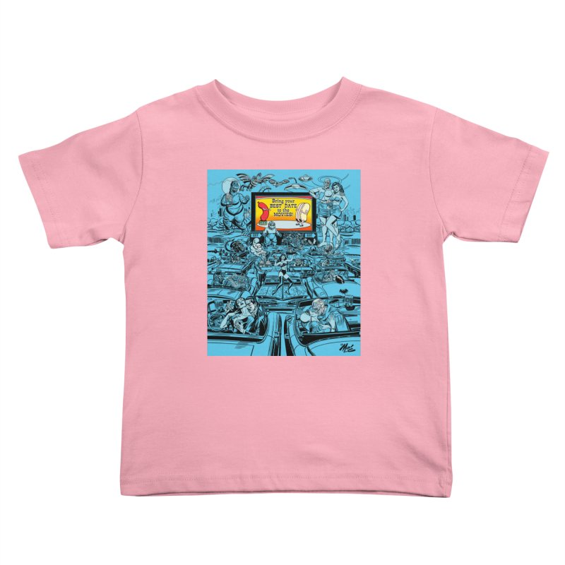 Take Your Best Date to the Movies! Kids Toddler T-Shirt by Mitch O'Connell