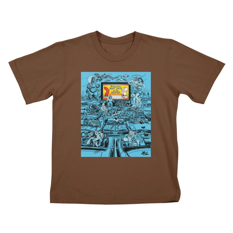 Take Your Best Date to the Movies! Kids T-Shirt by Mitch O'Connell