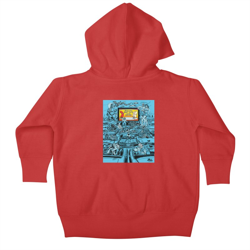 Take Your Best Date to the Movies! Kids Baby Zip-Up Hoody by Mitch O'Connell