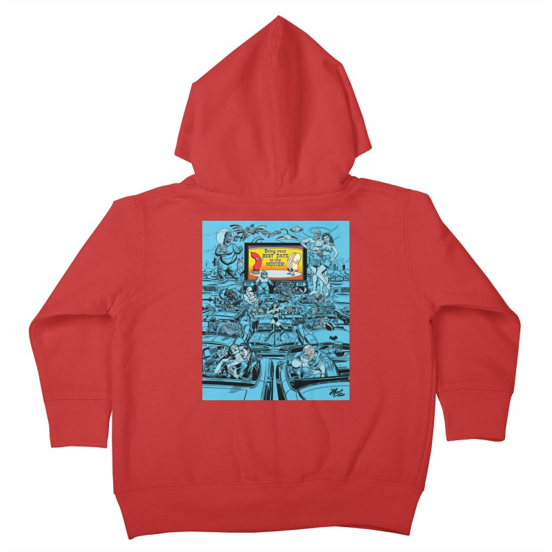 Take Your Best Date to the Movies! Kids Toddler Zip-Up Hoody by Mitch O'Connell