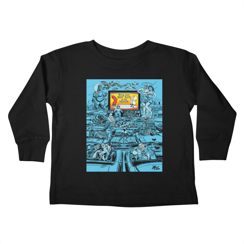 Take Your Best Date to the Movies! Kids Toddler Longsleeve T-Shirt by Mitch O'Connell