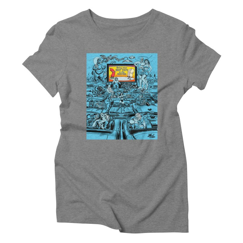 Take Your Best Date to the Movies! Women's Triblend T-Shirt by Mitch O'Connell