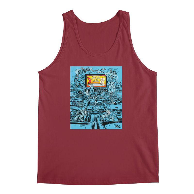 Take Your Best Date to the Movies! Men's Tank by Mitch O'Connell
