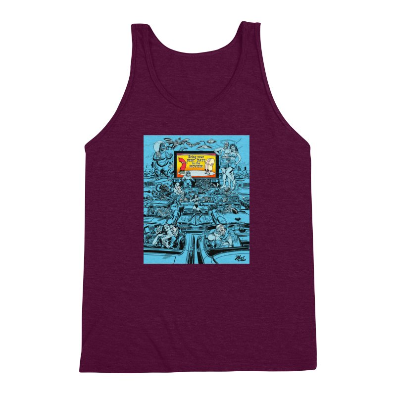 Take Your Best Date to the Movies! Men's Triblend Tank by Mitch O'Connell
