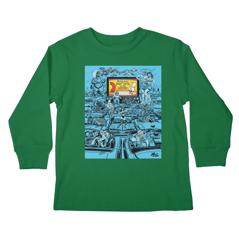 Take Your Best Date to the Movies! Kids Longsleeve T-Shirt by Mitch O'Connell