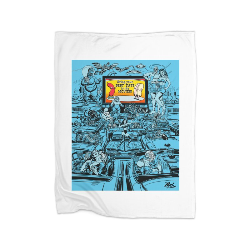 Take Your Best Date to the Movies! Home Blanket by Mitch O'Connell