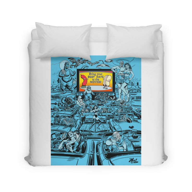Take Your Best Date to the Movies! Home Duvet by Mitch O'Connell