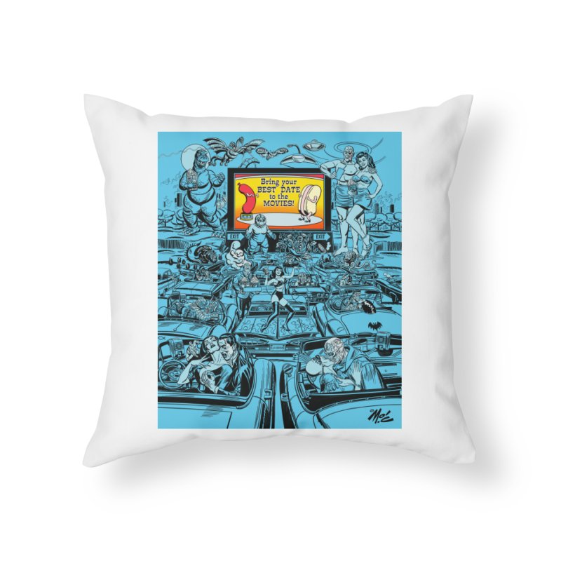 Take Your Best Date to the Movies! Home Throw Pillow by Mitch O'Connell