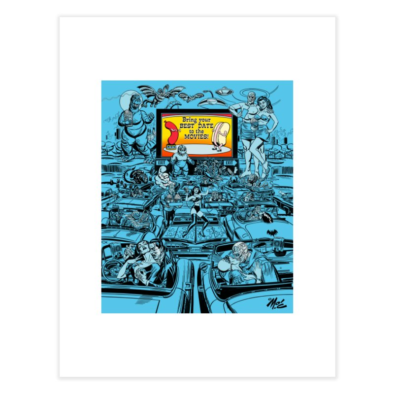 Take Your Best Date to the Movies! Home Fine Art Print by Mitch O'Connell