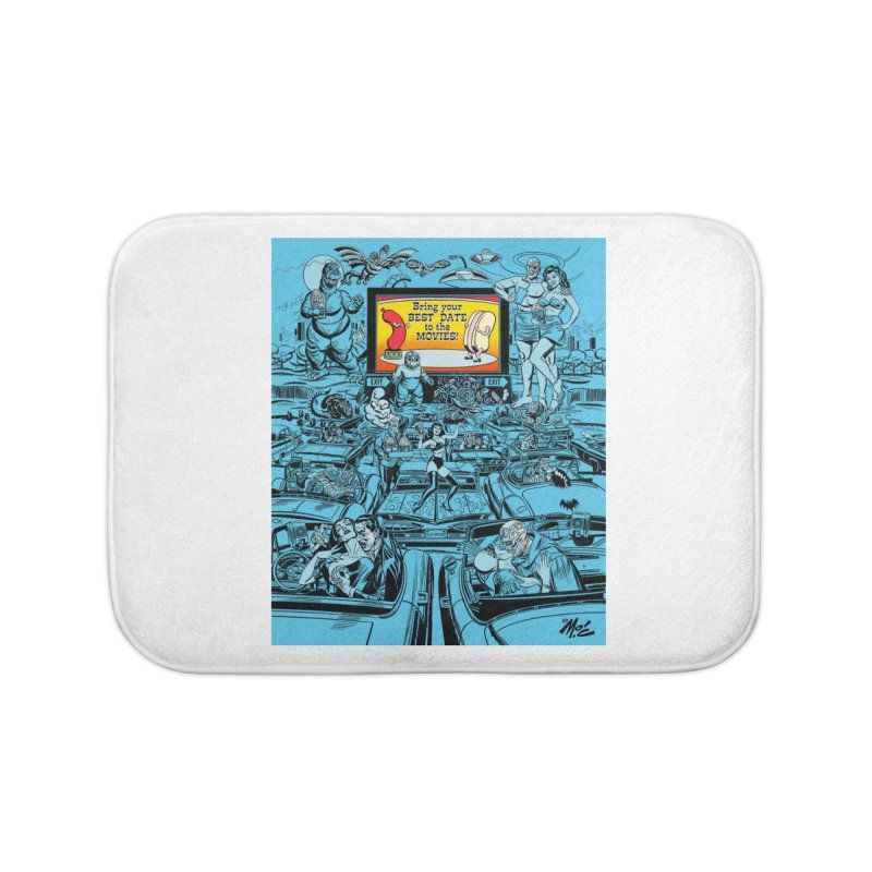 Take Your Best Date to the Movies! Home Bath Mat by Mitch O'Connell