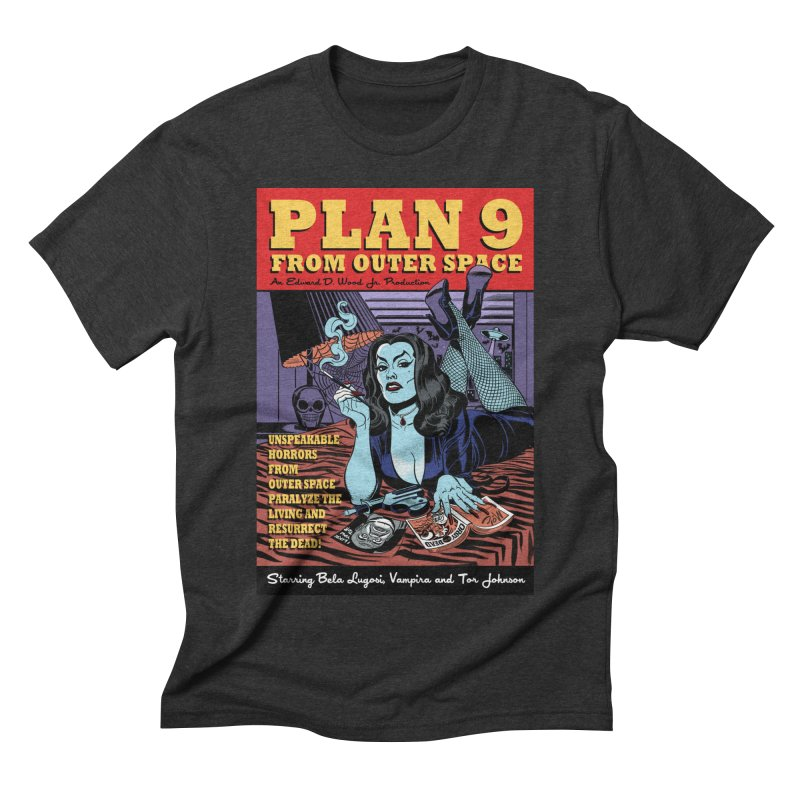 Plan 9 Men's Triblend T-Shirt by Mitch O'Connell