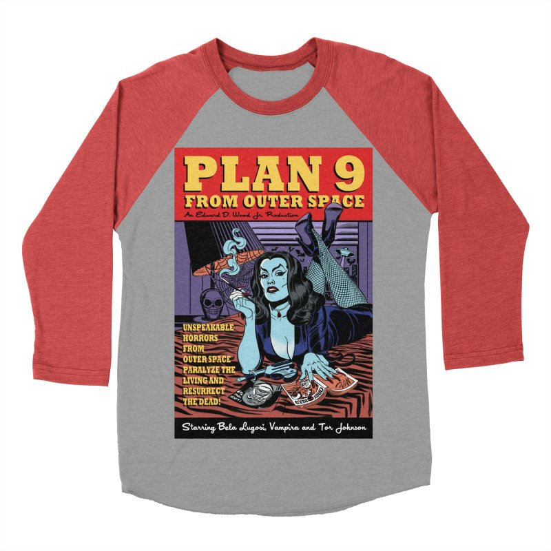 Plan 9 Women's Baseball Triblend T-Shirt by Mitch O'Connell