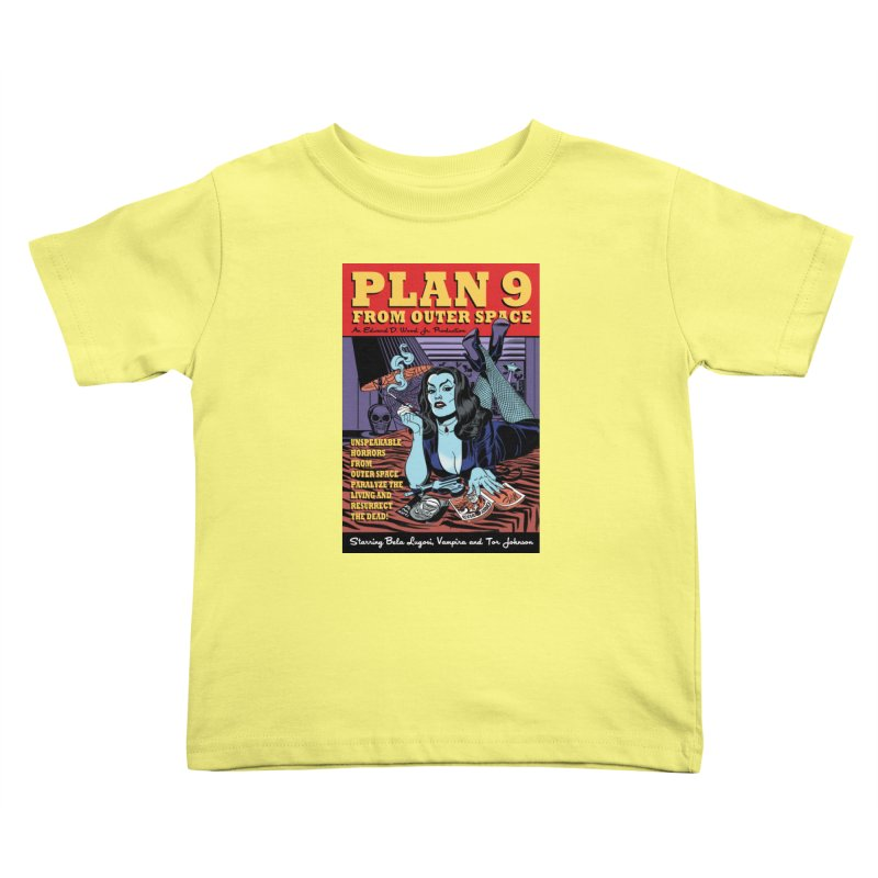 Plan 9 Kids Toddler T-Shirt by Mitch O'Connell