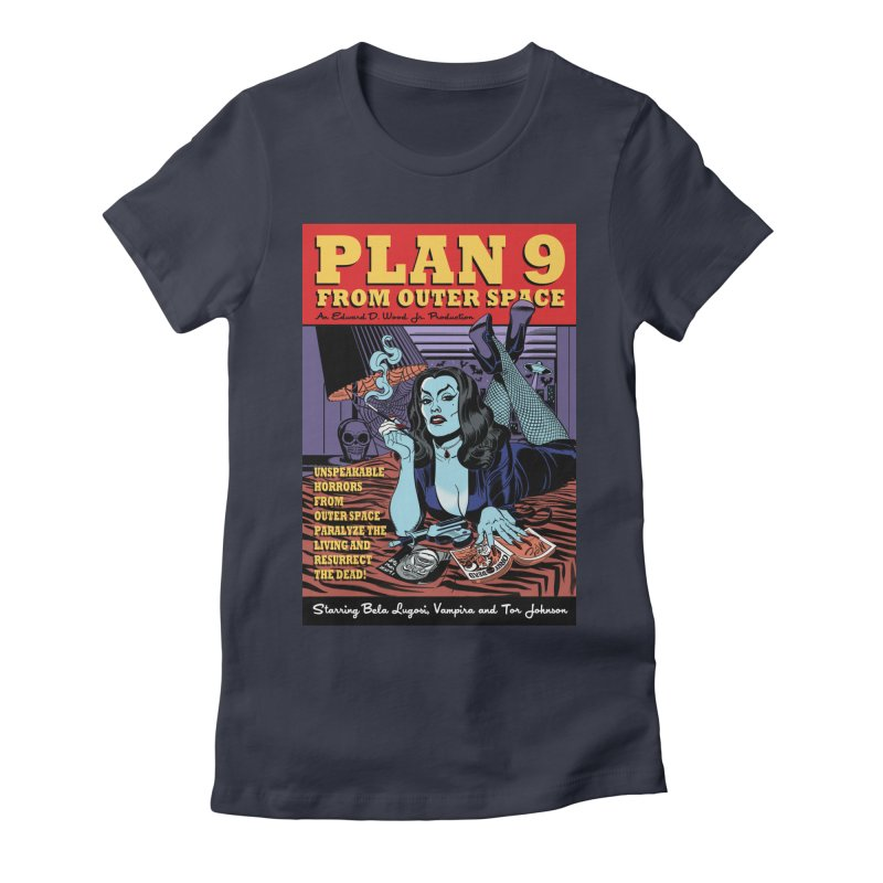 Plan 9 Women's Fitted T-Shirt by Mitch O'Connell