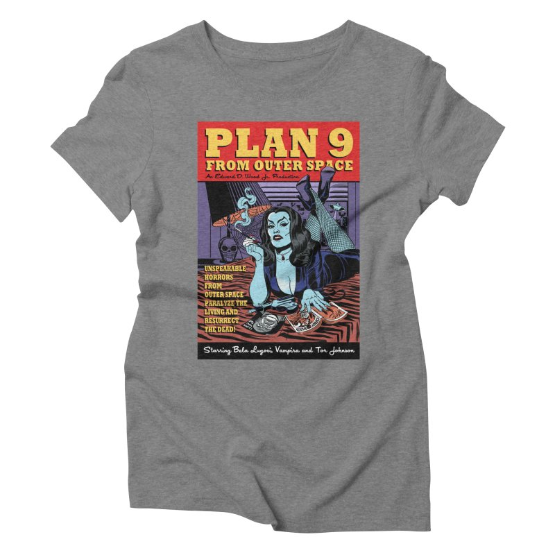 Plan 9 Women's Triblend T-Shirt by Mitch O'Connell