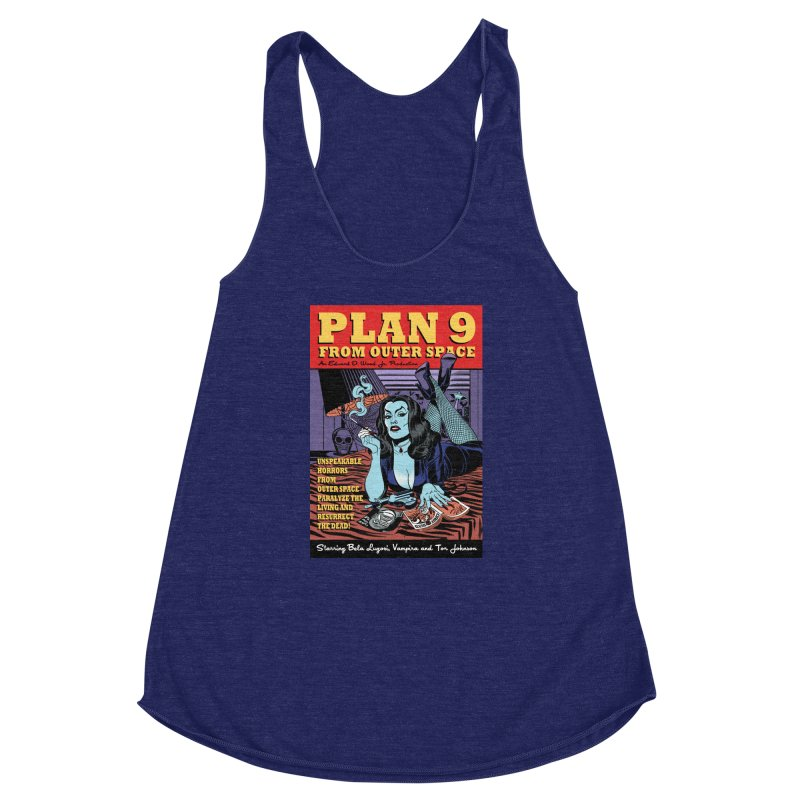 Plan 9 Women's Racerback Triblend Tank by Mitch O'Connell