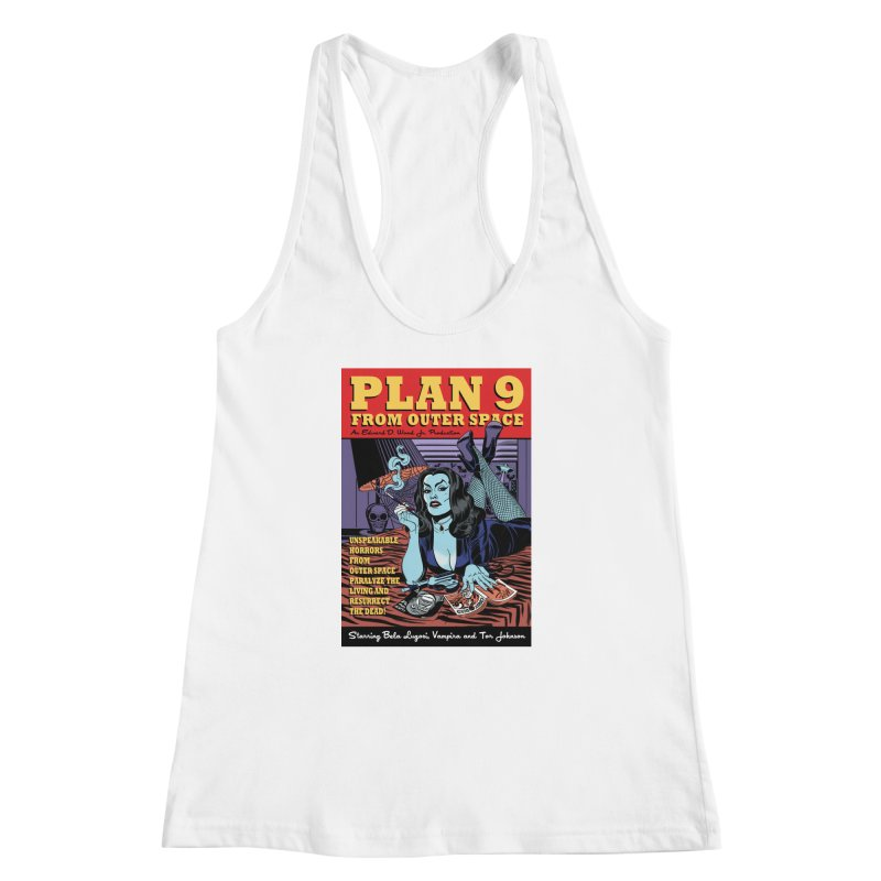 Plan 9 Women's Racerback Tank by Mitch O'Connell