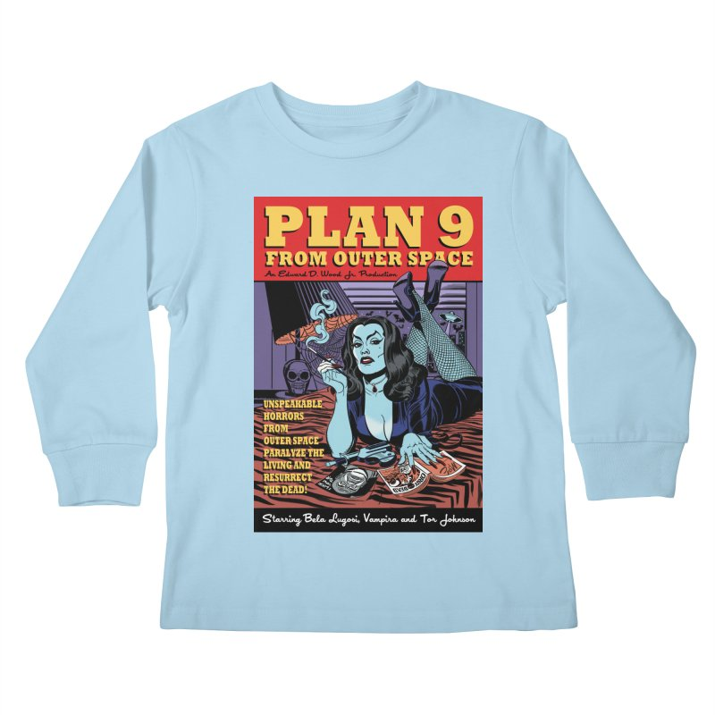 Plan 9 Kids Longsleeve T-Shirt by Mitch O'Connell