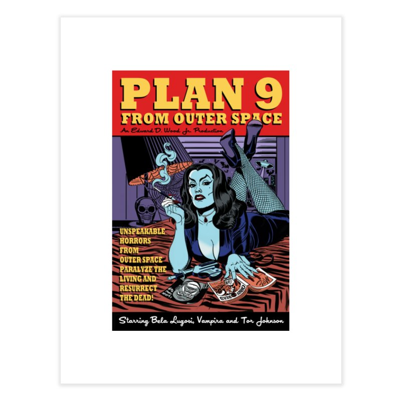 Plan 9 Home Fine Art Print by Mitch O'Connell