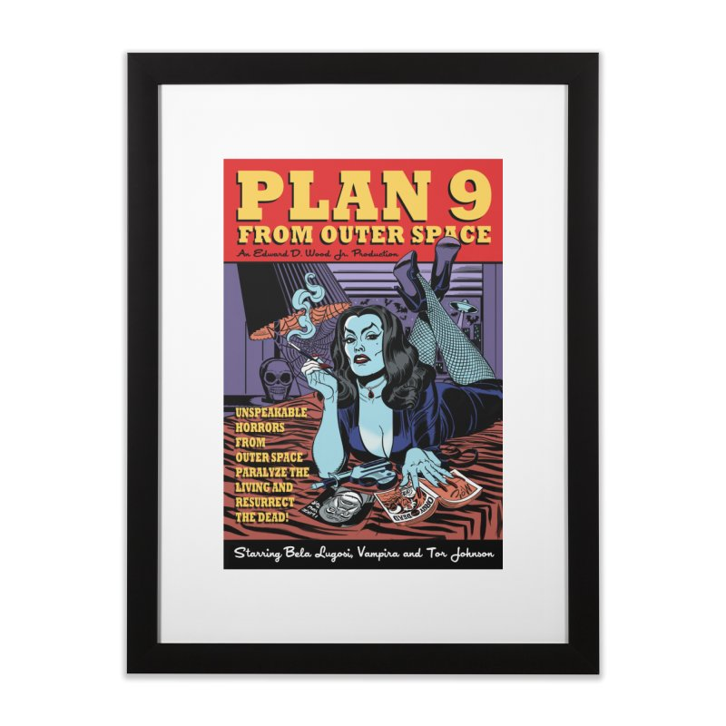 Plan 9 Home Framed Fine Art Print by Mitch O'Connell