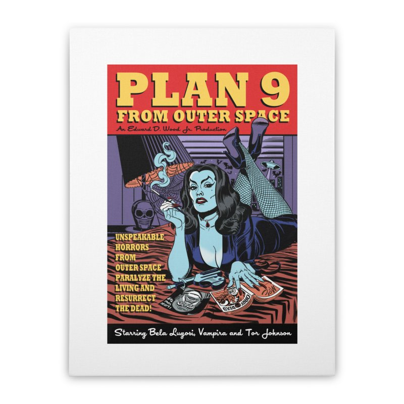 Plan 9 Home Stretched Canvas by Mitch O'Connell
