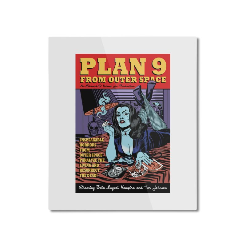 Plan 9 Home Mounted Aluminum Print by Mitch O'Connell
