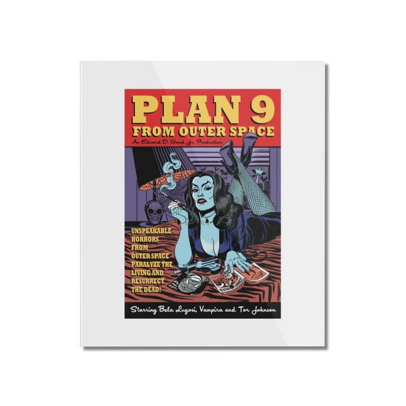 Plan 9 Home Mounted Acrylic Print by Mitch O'Connell