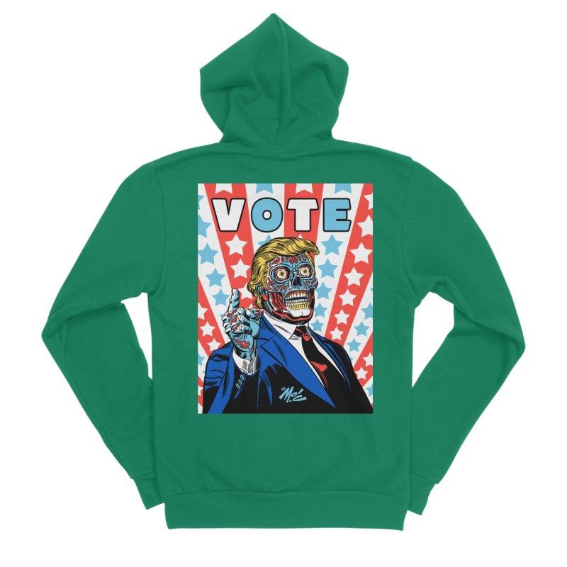 VOTE Women's Sponge Fleece Zip-Up Hoody by Mitch O'Connell