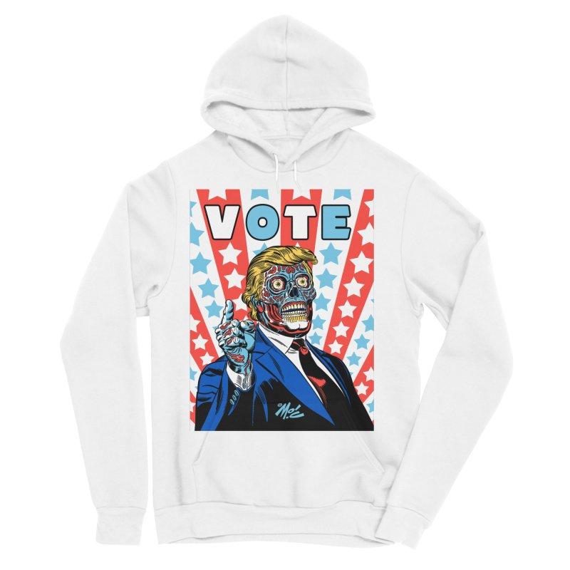VOTE Women's Sponge Fleece Pullover Hoody by Mitch O'Connell