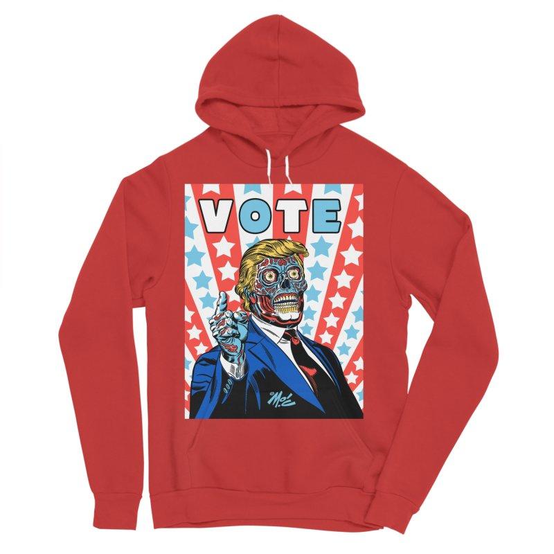 VOTE Men's Sponge Fleece Pullover Hoody by Mitch O'Connell