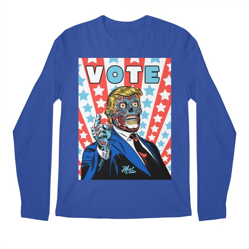 VOTE Men's Regular Longsleeve T-Shirt by Mitch O'Connell