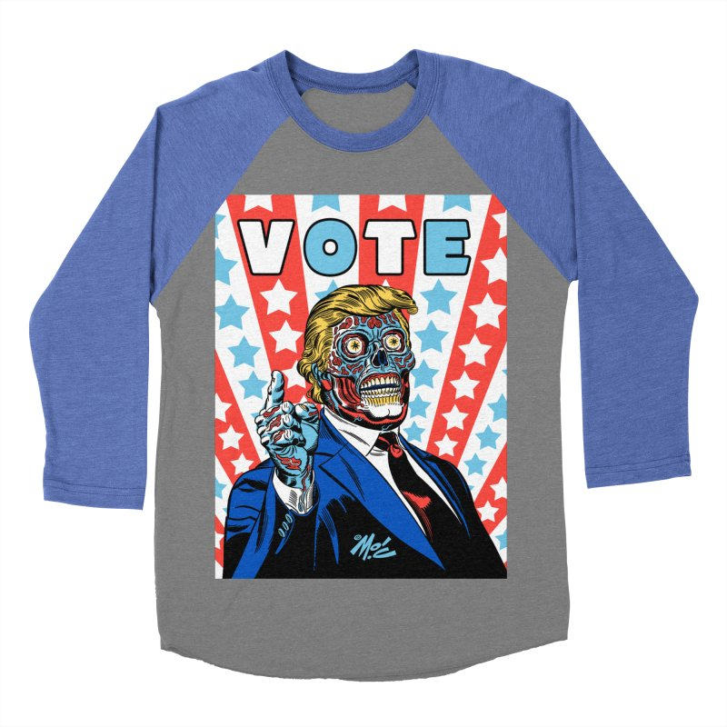 VOTE Women's Baseball Triblend Longsleeve T-Shirt by Mitch O'Connell