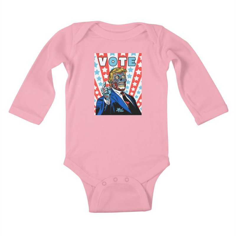VOTE Kids Baby Longsleeve Bodysuit by Mitch O'Connell