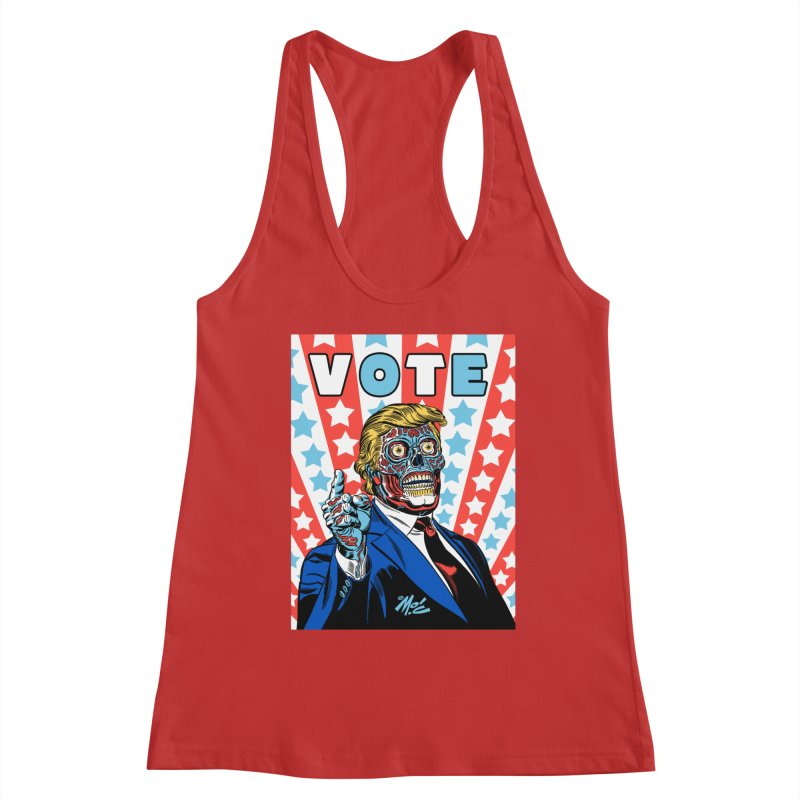 VOTE Women's Racerback Tank by Mitch O'Connell