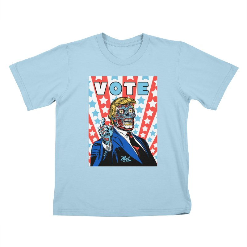 VOTE Kids T-Shirt by Mitch O'Connell