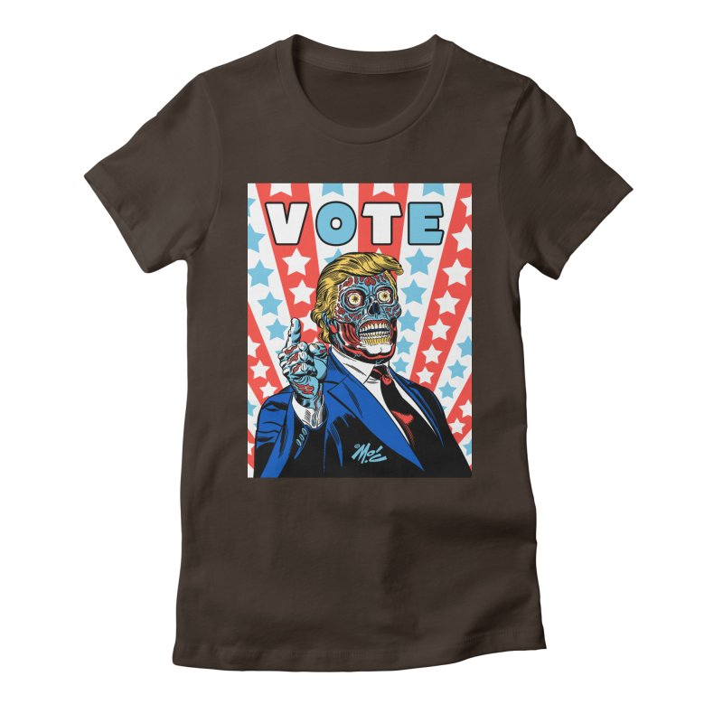 VOTE Women's Fitted T-Shirt by Mitch O'Connell