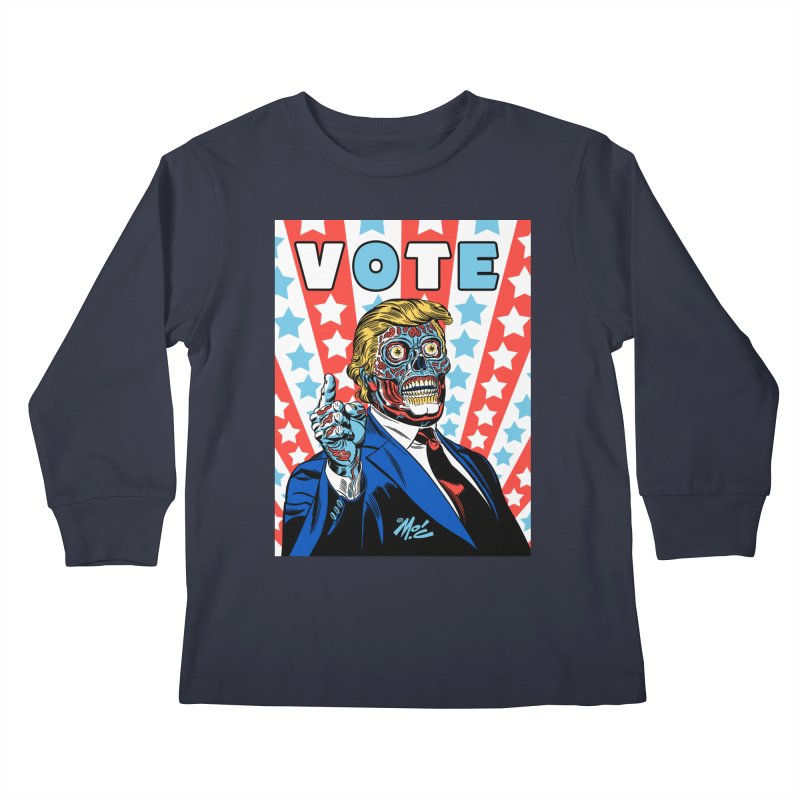 VOTE Kids Longsleeve T-Shirt by Mitch O'Connell