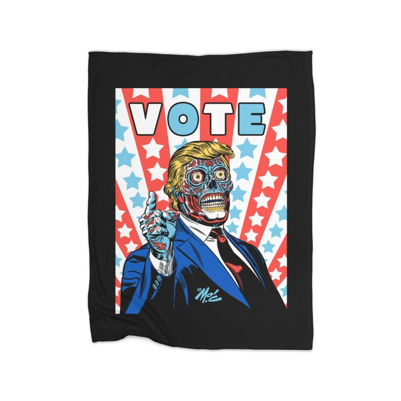 VOTE Home Fleece Blanket Blanket by Mitch O'Connell