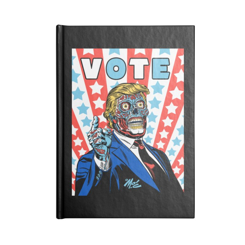 VOTE Accessories Blank Journal Notebook by Mitch O'Connell