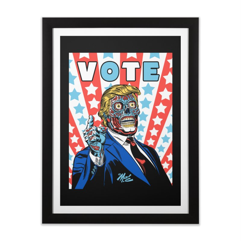 VOTE Home Framed Fine Art Print by Mitch O'Connell