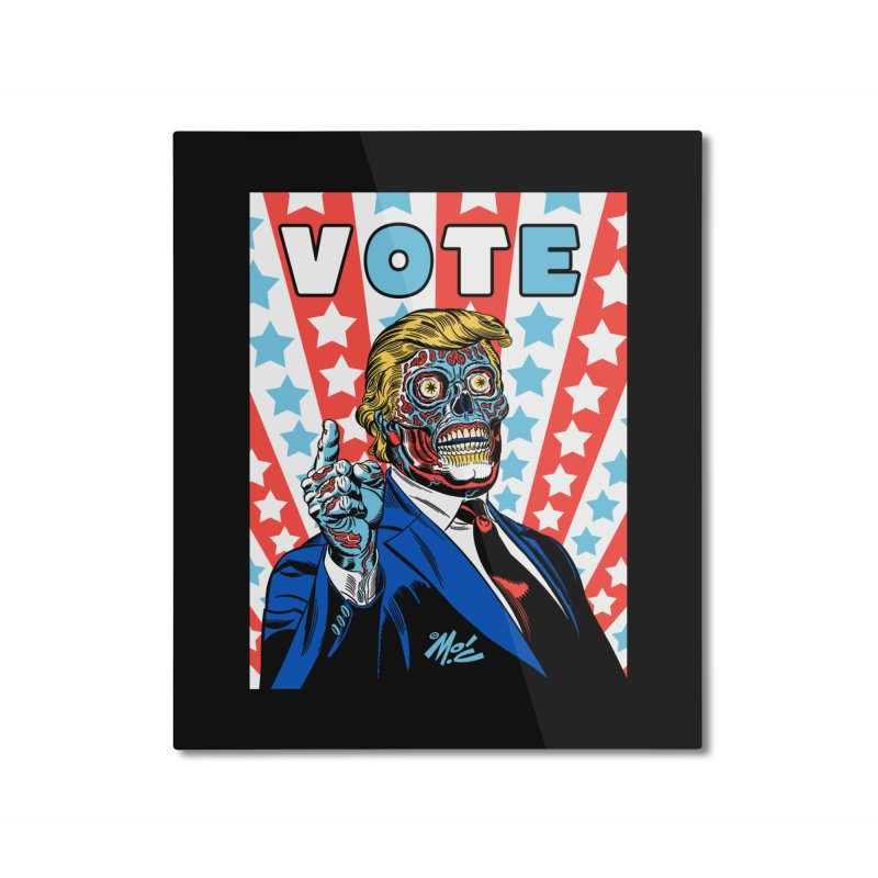 VOTE Home Mounted Aluminum Print by Mitch O'Connell