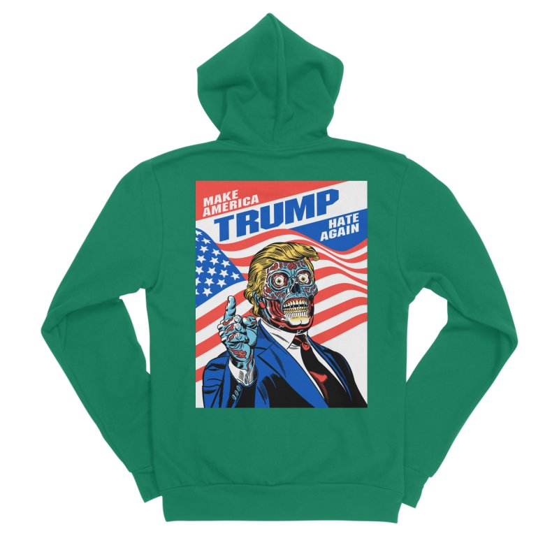 Make America Hate Again! Women's Sponge Fleece Zip-Up Hoody by Mitch O'Connell