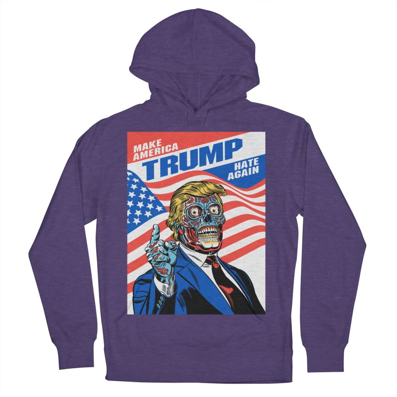 Make America Hate Again! Men's French Terry Pullover Hoody by Mitch O'Connell